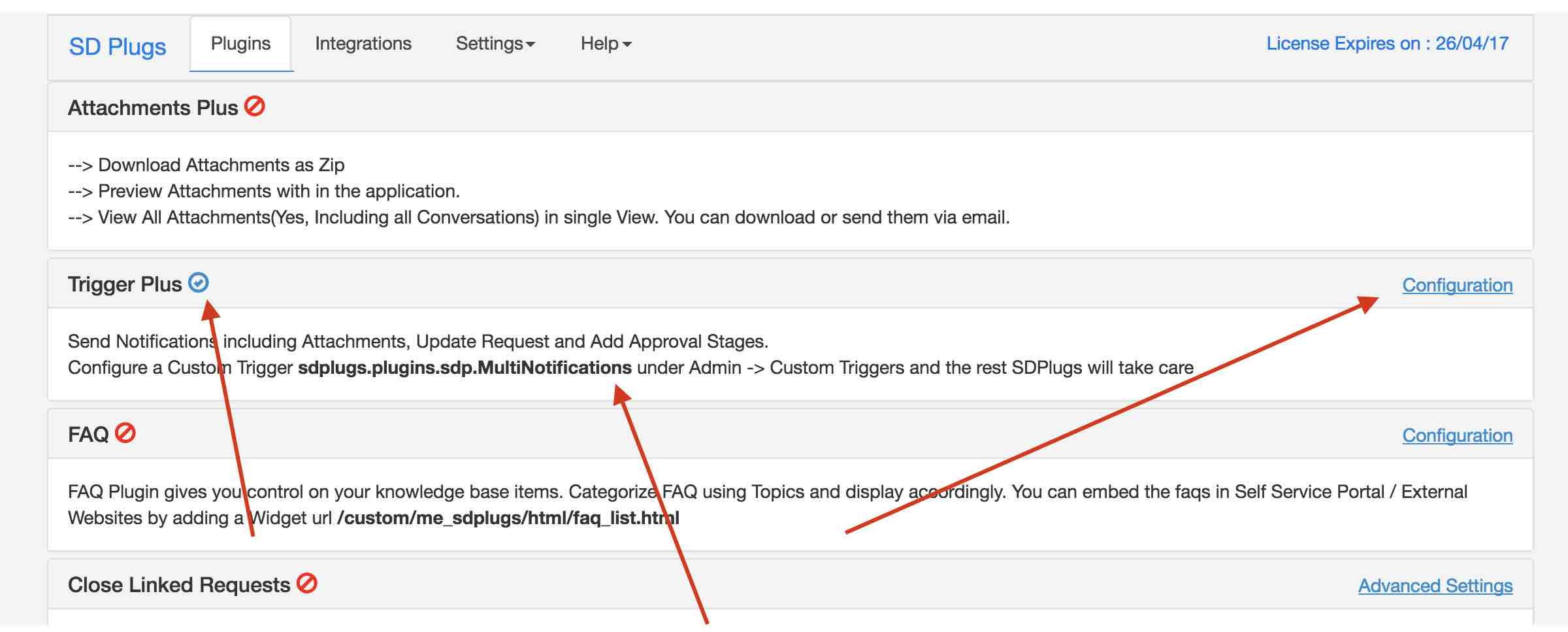 how to add email trigger responses to content of ticket