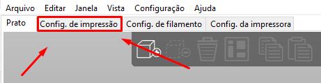 Configurações de impressão PrusaSLicer