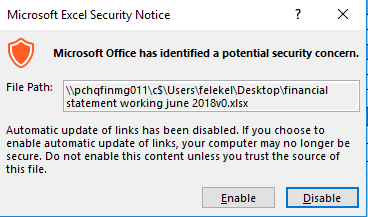 27751:- Microsoft Office has Identified a Potential Security