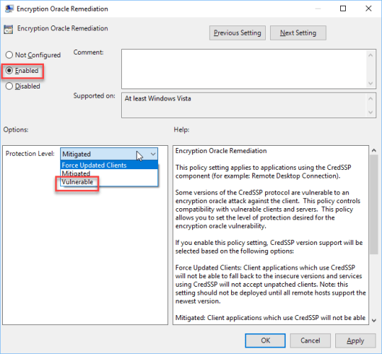 Server Login Error from Windows 10 or Windows Server 2016 to other