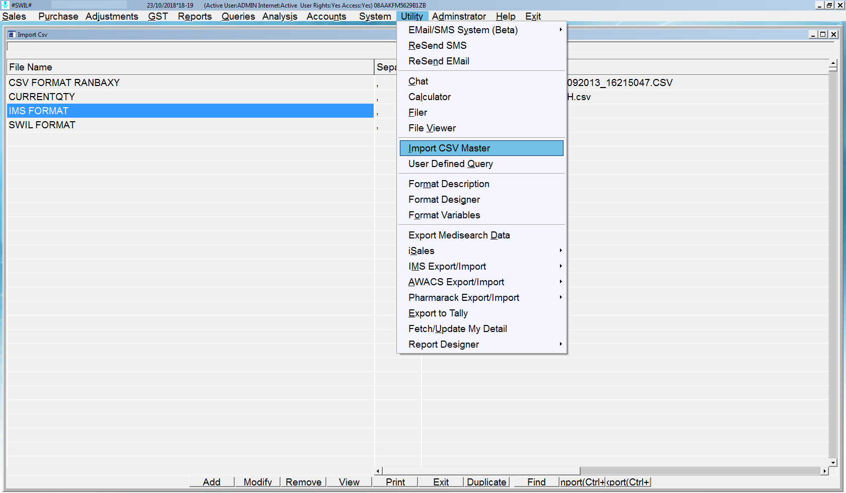 How to Import Purchase through CSV file in Unisolve / Cross