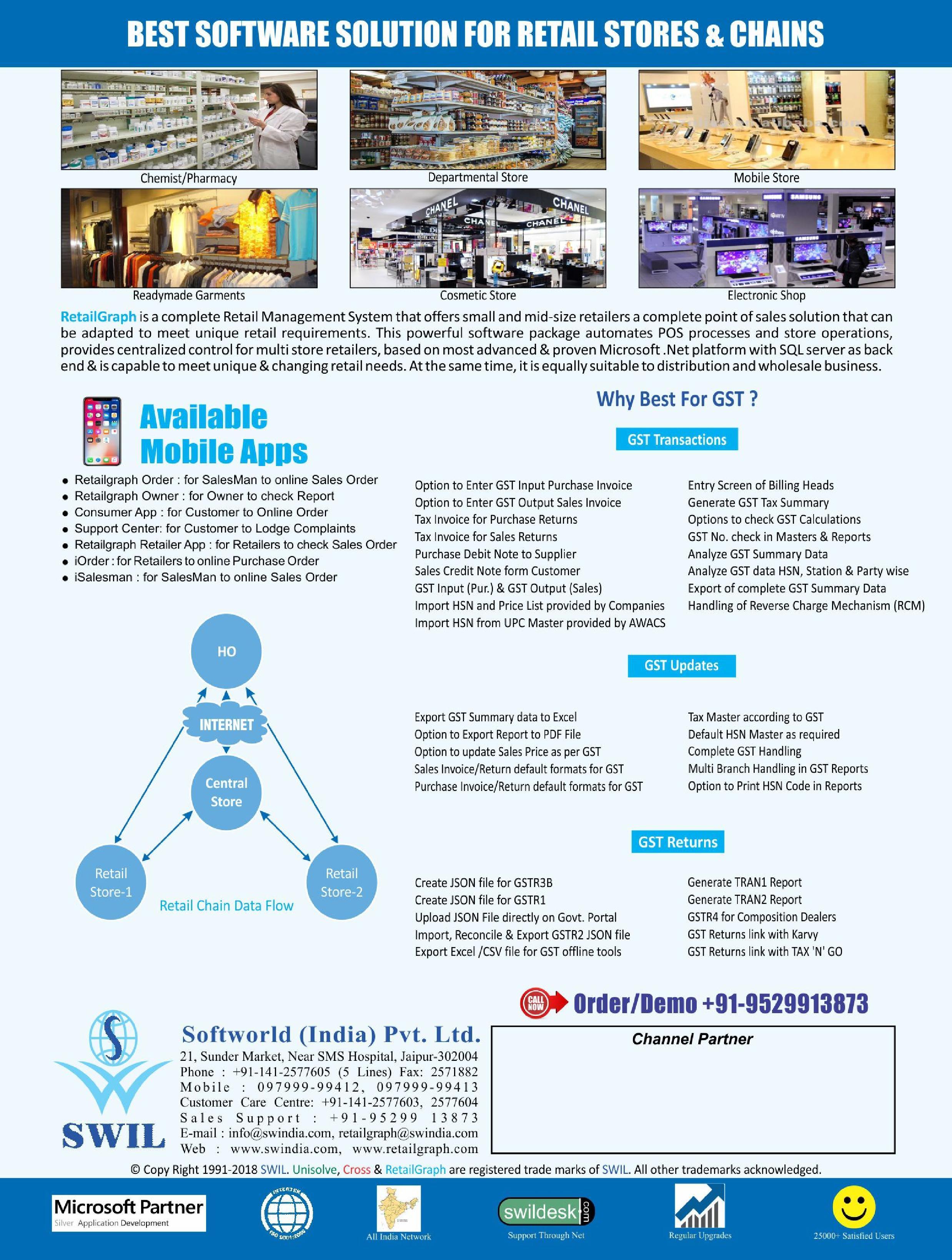 Retailgraph software brochure.