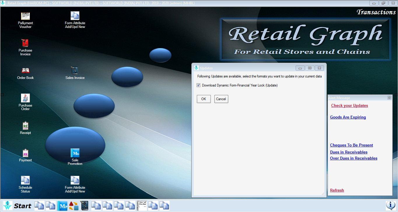 Retailgraph window.