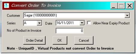 Convert order to invoice