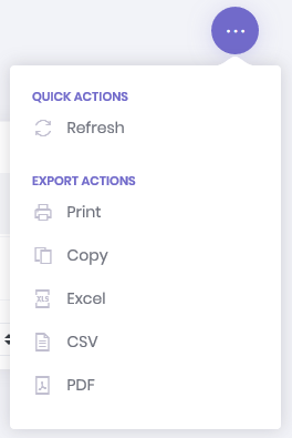 Role Search - More Options Dropdown