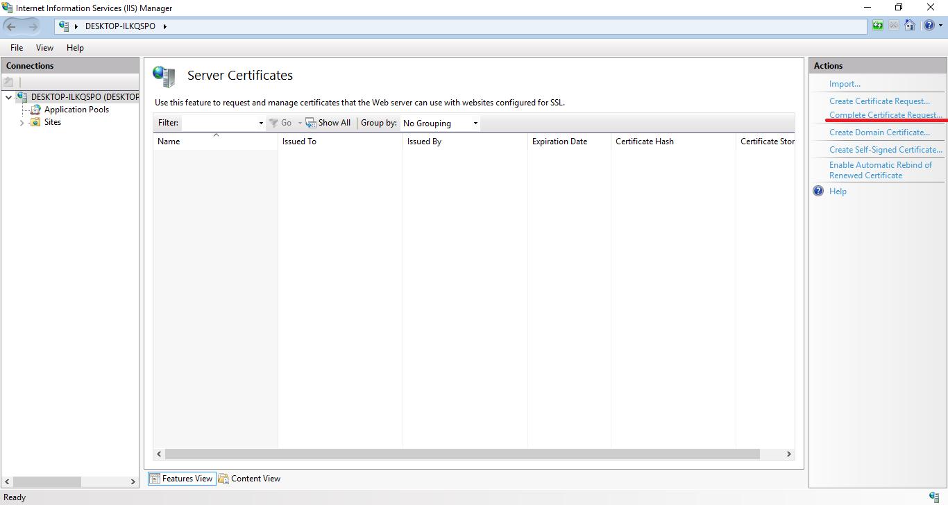 Ssl Certificate On Iis8