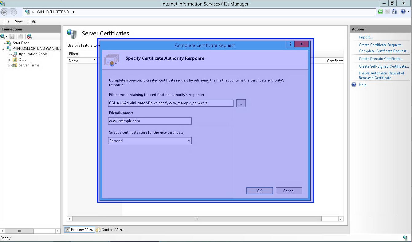 Windows Certificate Installation Microsoft Iis