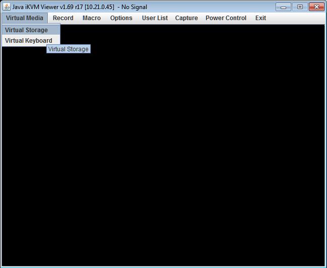 Mounting IPMI virtual media