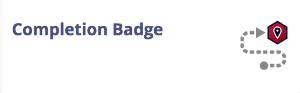 completion badge right