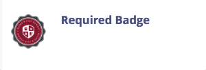 required badge left