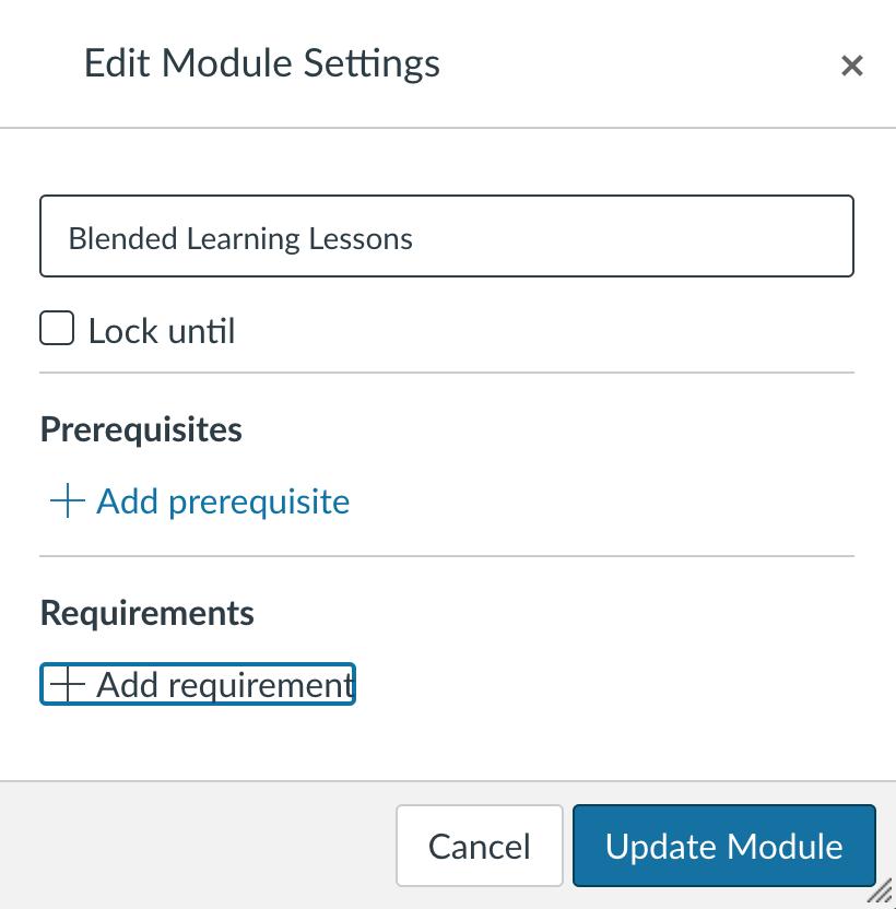 Edit module settings