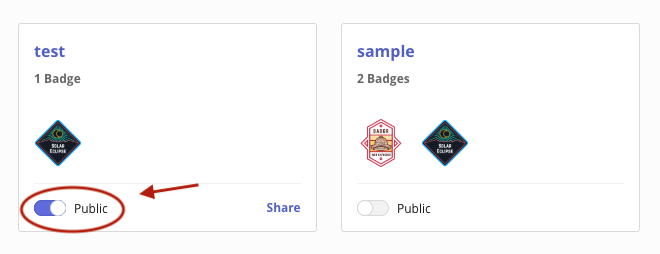 Bagdr collection public toggle