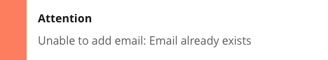 unable to add email