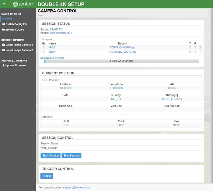 Accessing the Double 4K/AGX710 Diagnostics Web Pages