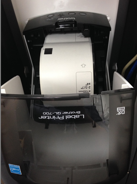 Changing the Label Roll on a Brother QL-700 Label Printer
