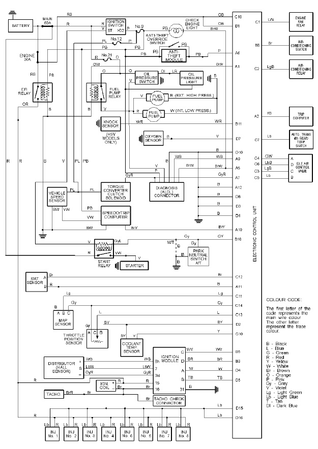 Holden V8 5.0L EFI | Vs Commodore Wiring Diagram |  | Haltech