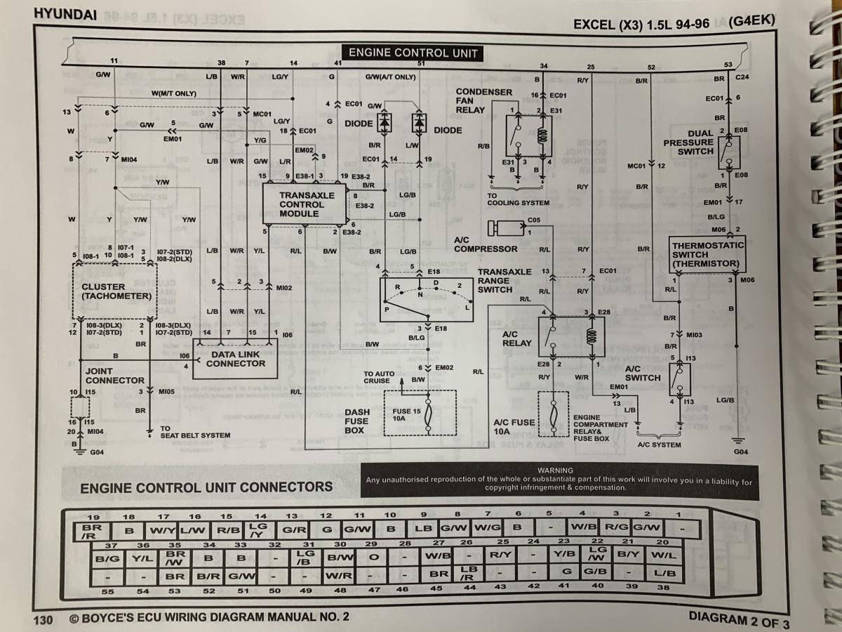 Alpha Engine G4EK/G4FK (Excel) | Hyundai X3 Wiring Diagram |  | Haltech