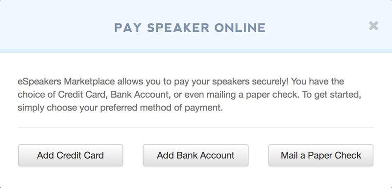 pay speaker online