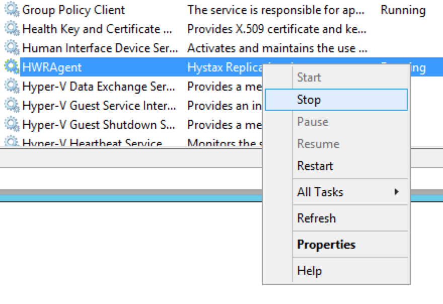 Hystax Windows Replication Agent