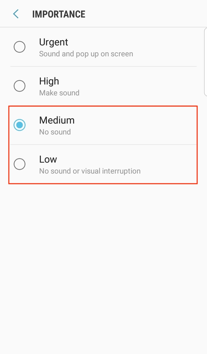 How do I turn off the sound for push notifications?