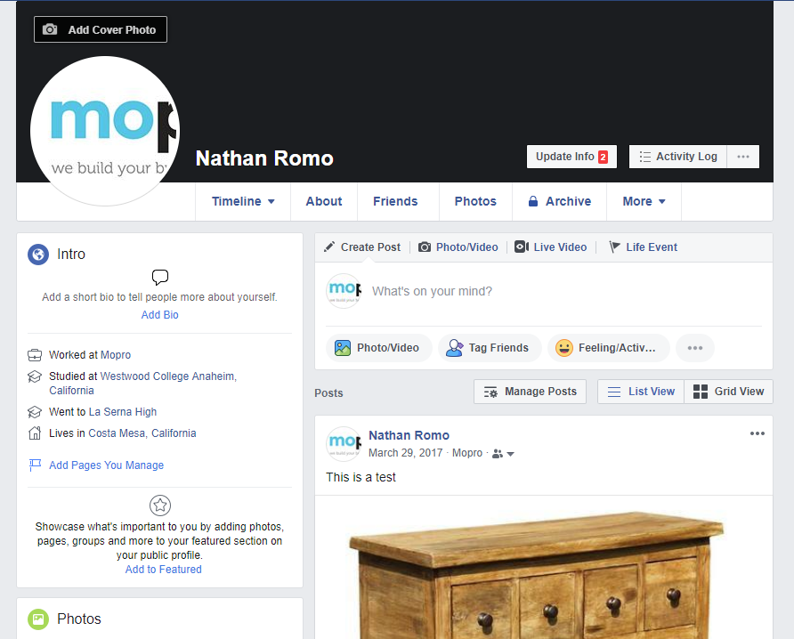 create facebook business page without personal profile