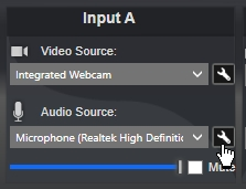 Streamsie audio settings button