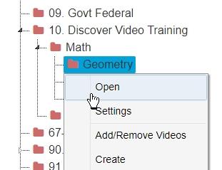 Channel settings