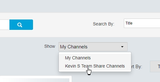 Show team channels