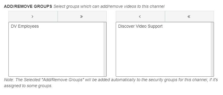 Add remove groups