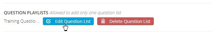 Edit question playlist