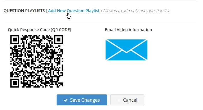 Add new question playlist