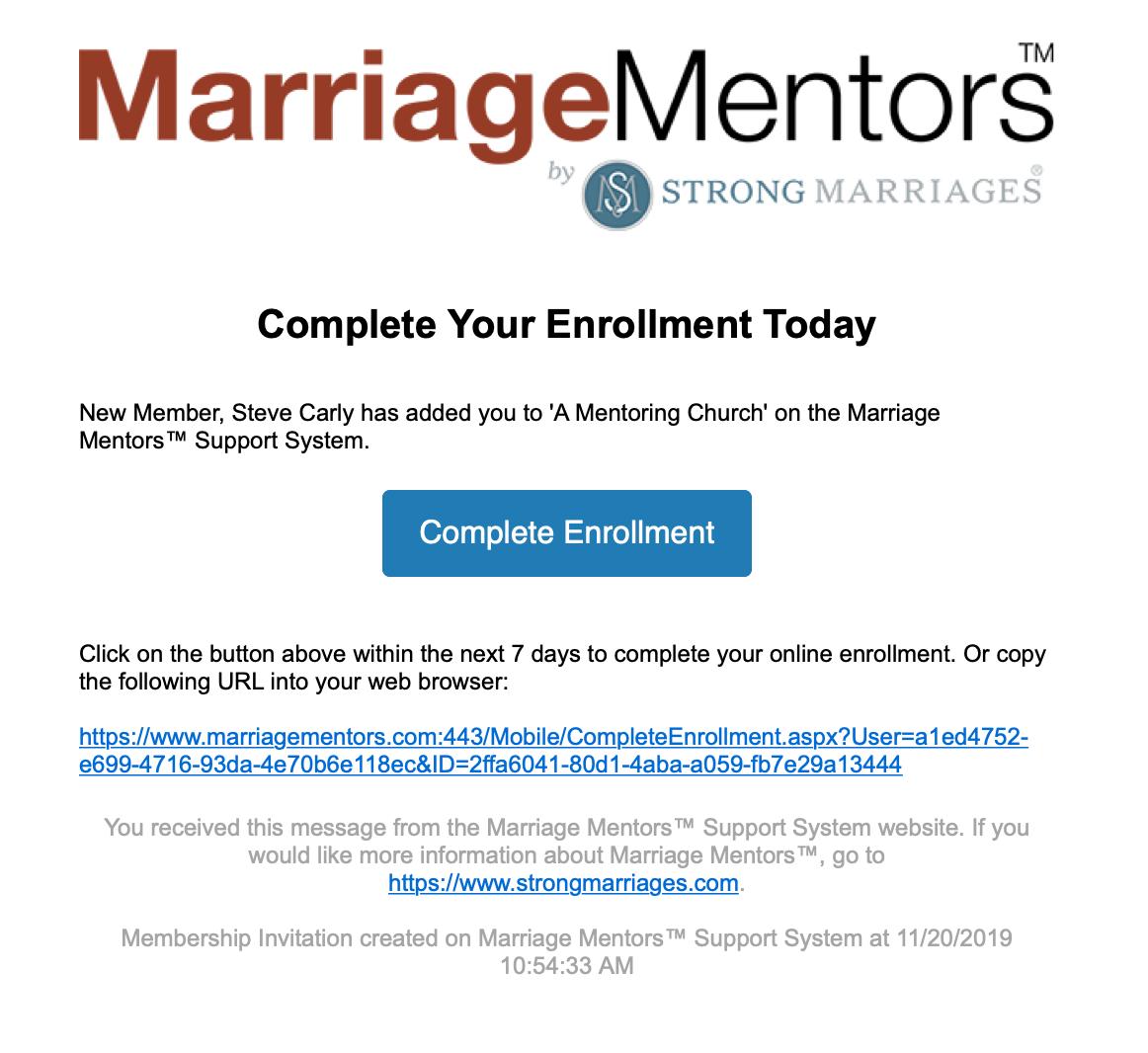 Complete Enrollment E-Mail