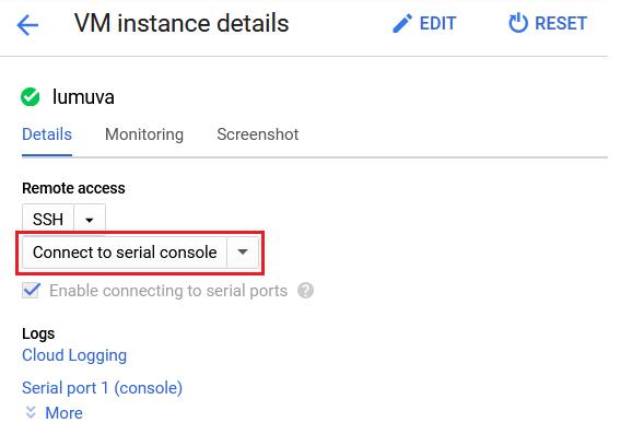 SSH settings