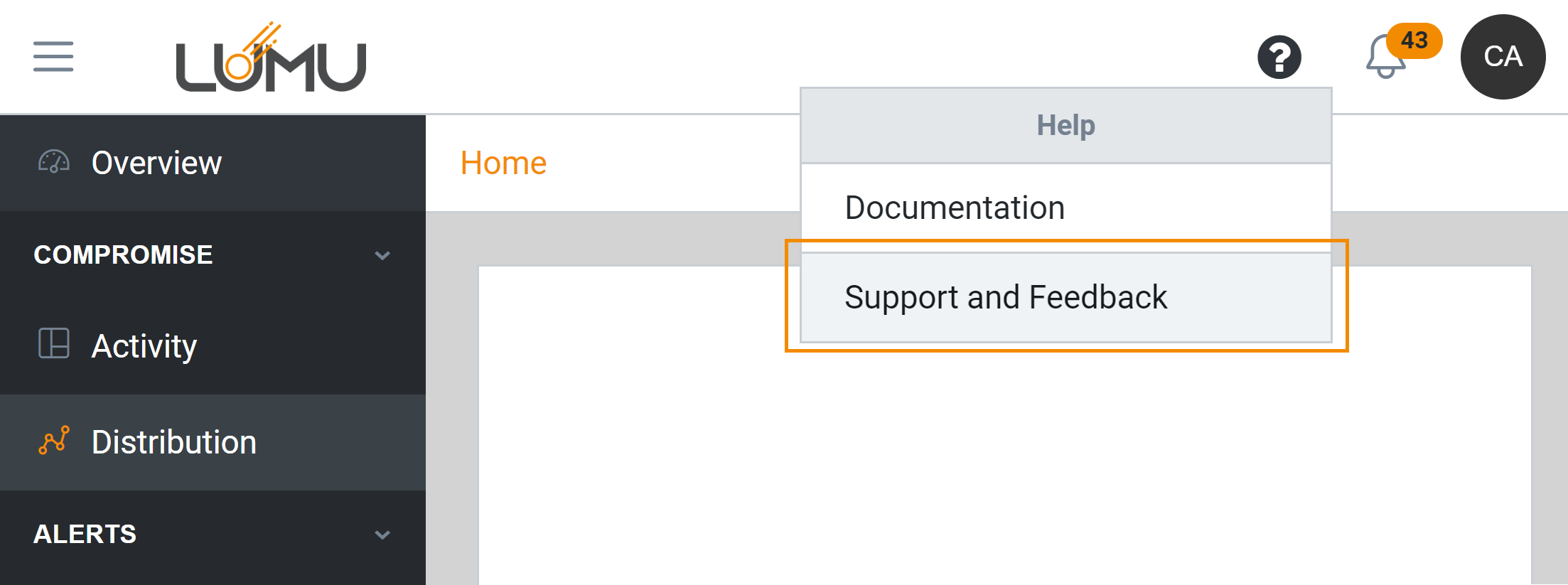 Requesting help - Lumu Portal