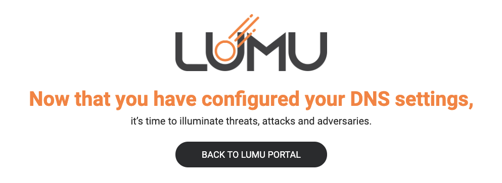 You are ready to use Lumu