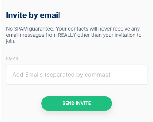 Invite by email