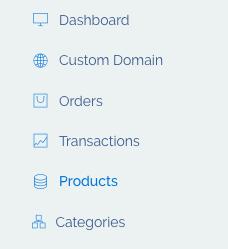 product menu