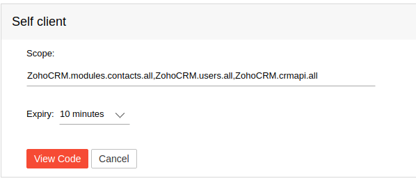 PHP SDK] ZCRMException: invalid oauth scope to access this URL