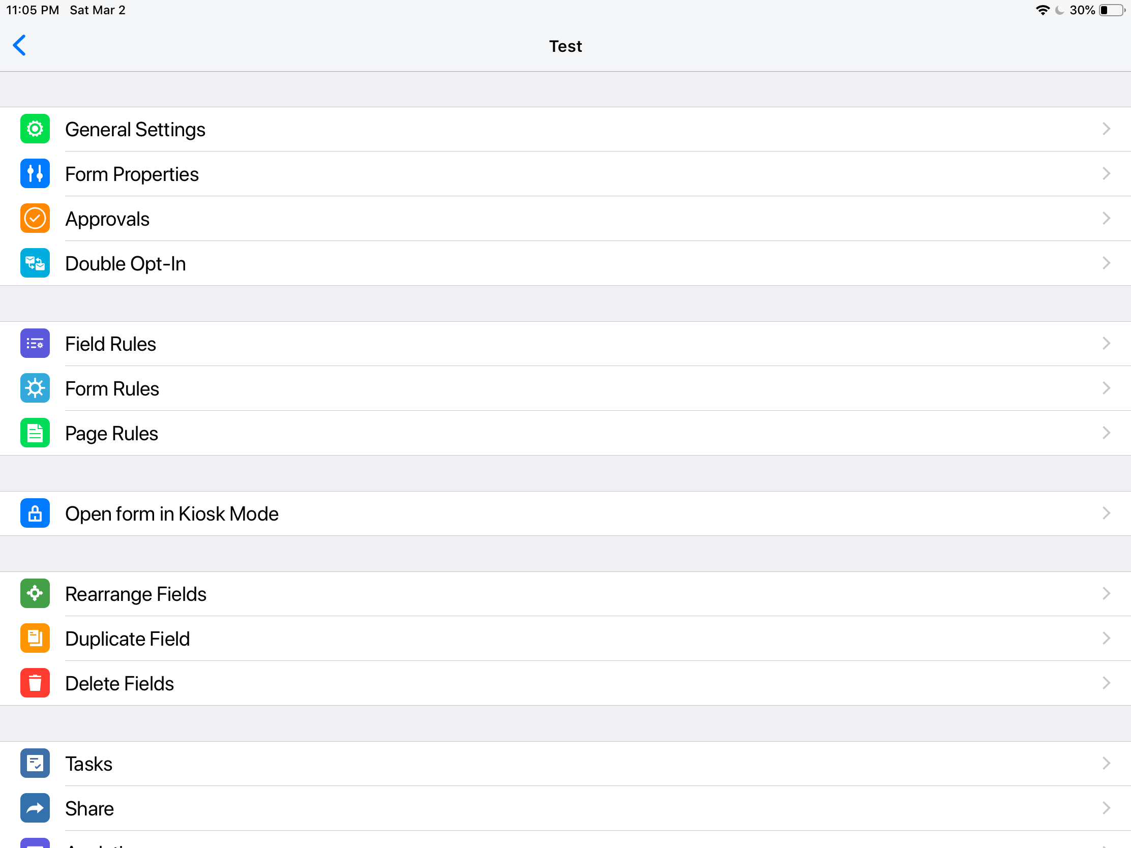 Find Kiosk Mode on Mobile Forms - iOS