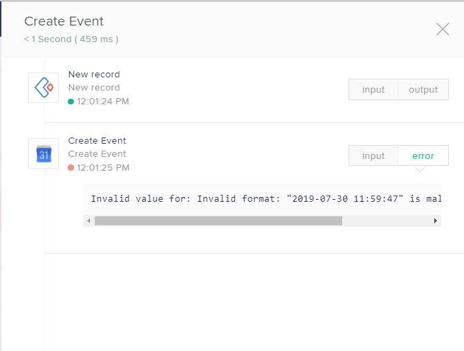 Integration between Zoho creator to Google Calendar